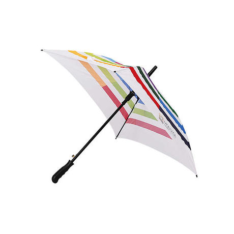 HYR028 29'' Automatic Squate Umbrella with Colorful Stripe